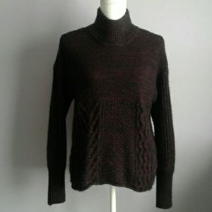 Simply Vera Metallic Mock Neck Sweater